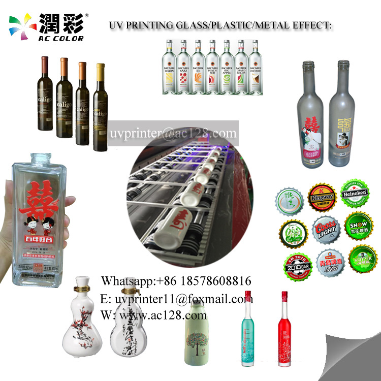 Glass Bottle uv Printer Wine Bottle uv Printer 1510 with Fast Printing Speed