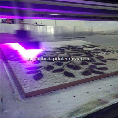UV flatbed printer adopt computer control system easier operation faster production