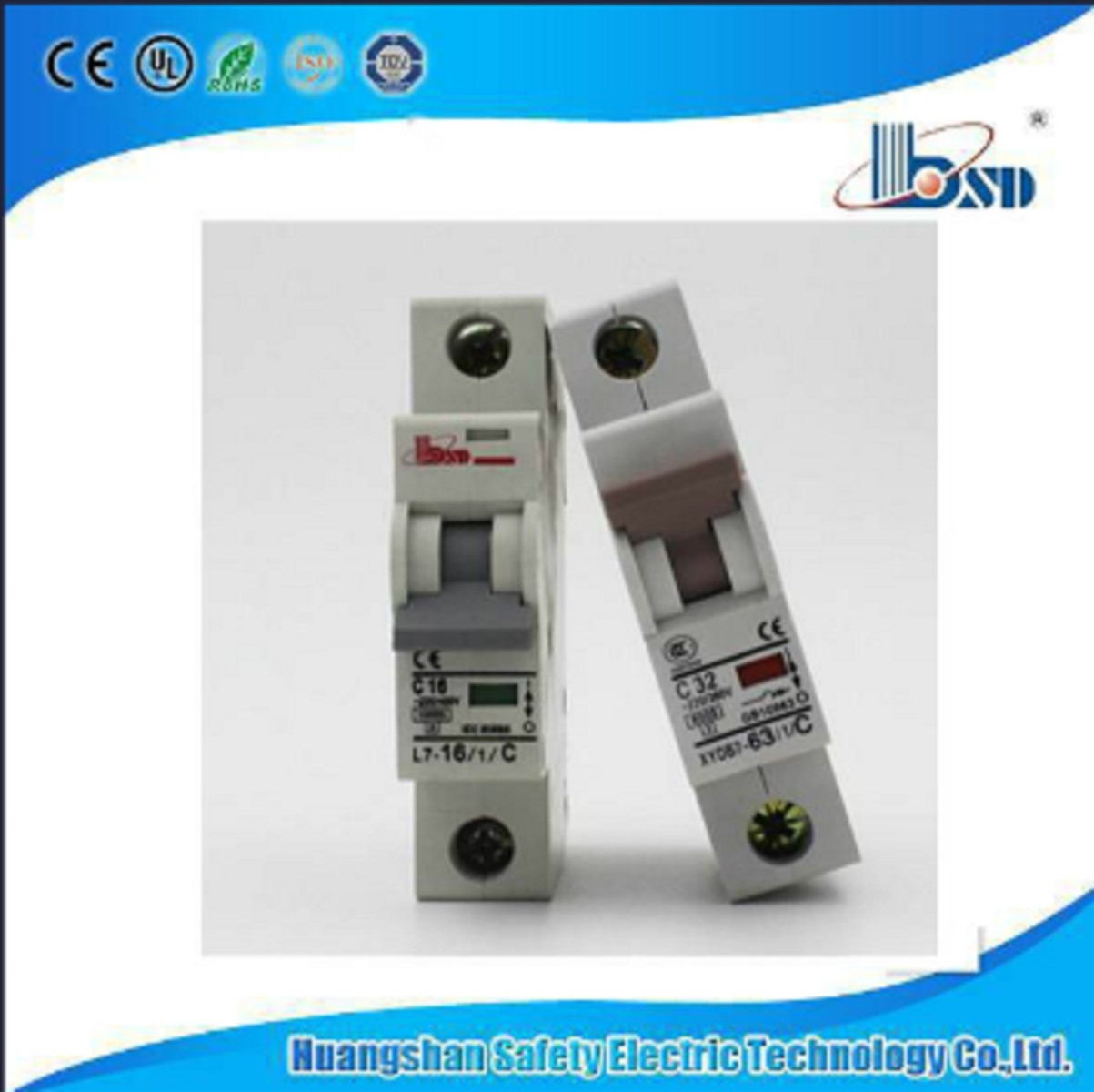 Dz47C45 Mini Circuit BreakerMCB with 6ka capacity