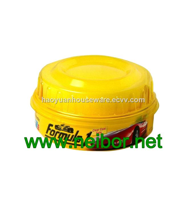 Custom printing 250g round metal tin car wax container car polish can chemical can with foam and plastic cap