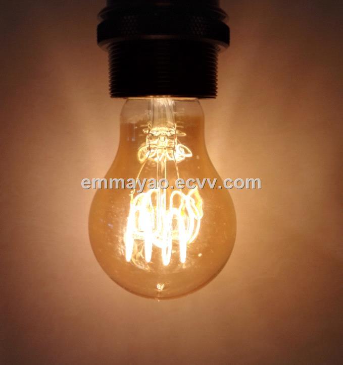 Soft led filament spiral bulb warm white light bulb