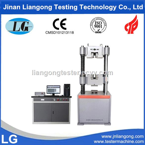 300kN 30ton Hydraulic Computer Servo Control Universal Tester Machines for round and flat bars tensile test WAW300B