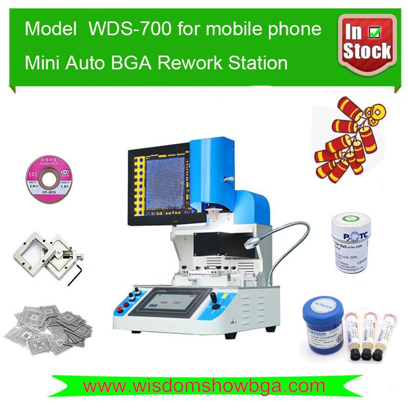 WDS700 Bga Soldering Machine Automatic Hot Air Bga Reballing Kit Bga Rework Station Expert for Repairing Mobile Phone