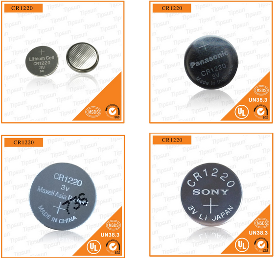 China Manufacturer CR1220 SC Button cell Lithium Battery for IC Card