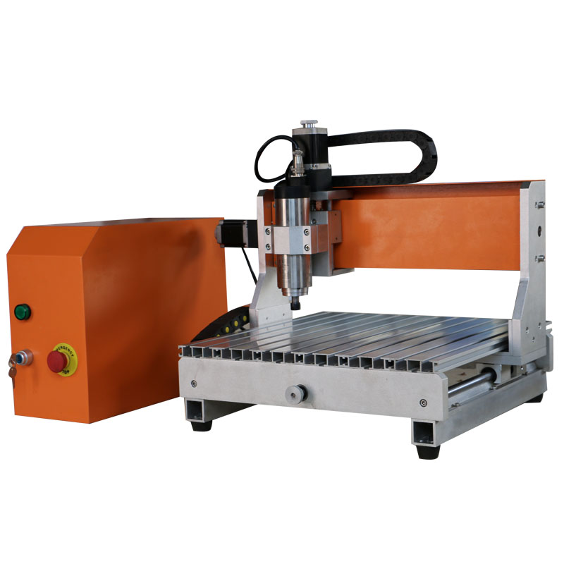 woodacrylicaluminumcopper engraving cutting machine small CNC router FD3040 800W with water tank