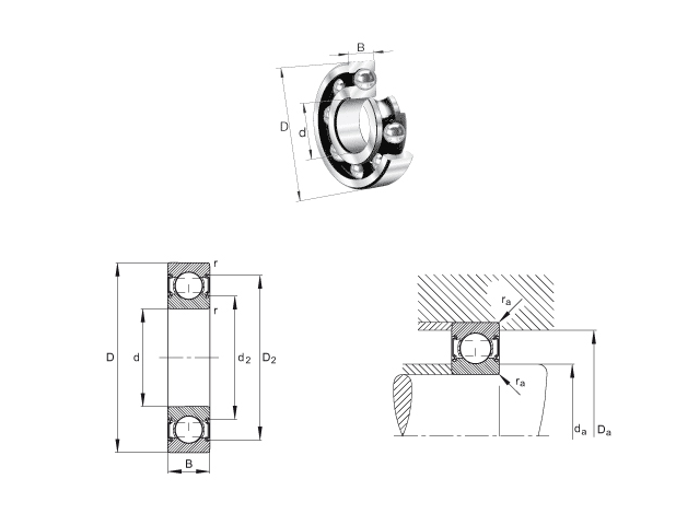 6202 ZZ C3 6203 ZZ C3 6204 ZZ C3 WT Deep Groove Ball Bearings for Milling Machine