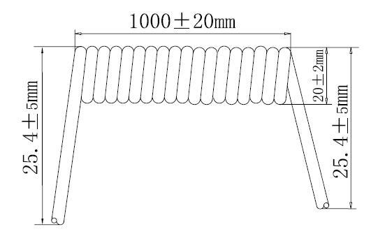 Halogen Free Retractable Spiral Cable UL20057 UL20327 UL20618