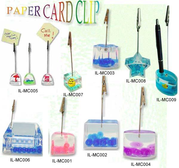 Acrylic Liquid-filled memo clip, paper holder (IL-MC serie ...