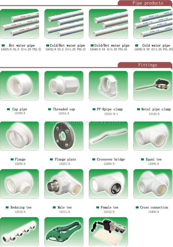 Ppr pipes and fittings purchasing souring agent ecvv