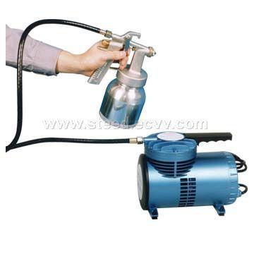mini air compressor low pressure spray gun as06k. Black Bedroom Furniture Sets. Home Design Ideas
