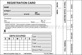 product registration card template