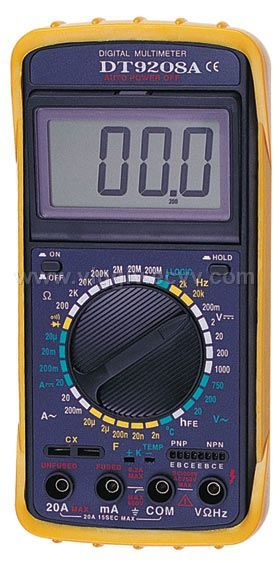 digital multimeter dt9208a