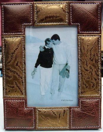 leather photo frame picture