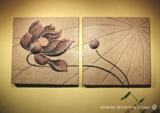 home interior decor furnish wall sculpture panel (6089) - China