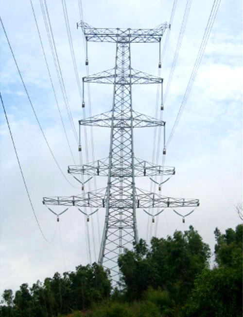 lattice transmission tower