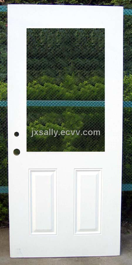 Steel Door With Vision Panel Access Pre Cut Out Door From