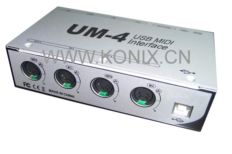 how to connect usb midi interface