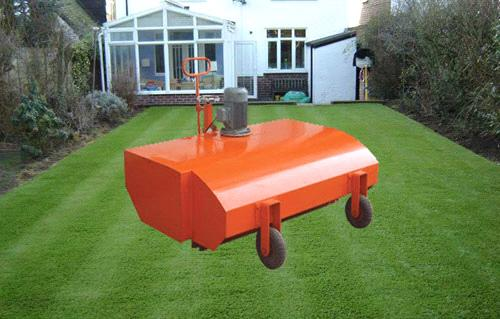 artificial turf brush machine