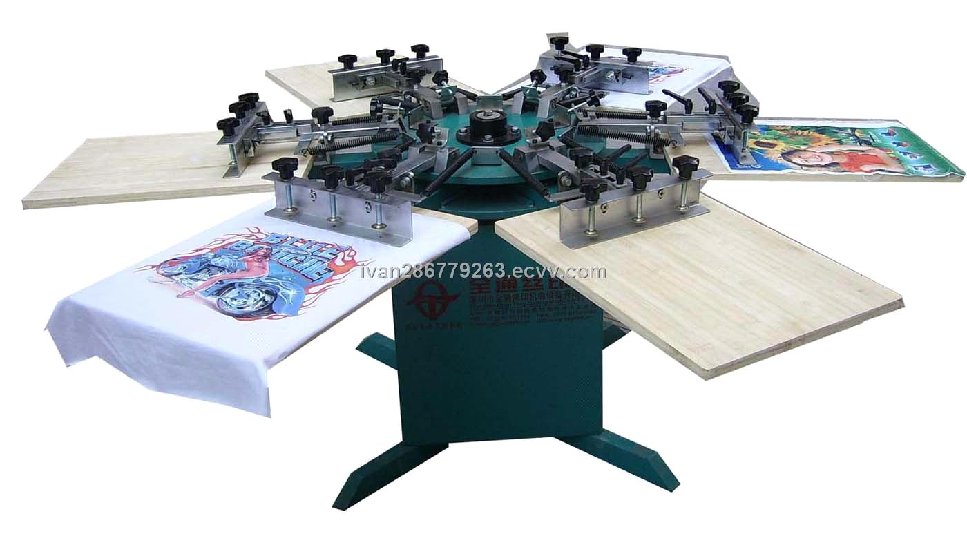 6 8 colors t shirt manual printing machine purchasing for Commercial shirt printing machine