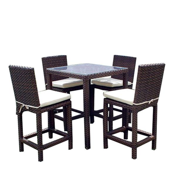 "All-Weather Wicker ""Liberty"" 5-Piece Outdoor Bar Set (ZF-B1109"