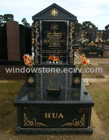 Australian Style Single Granite Monument Tombstone