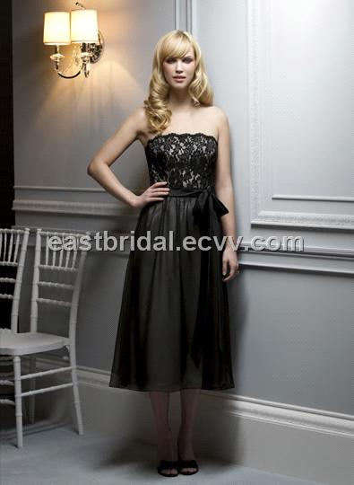 Black tea dress for Black tea length wedding dress