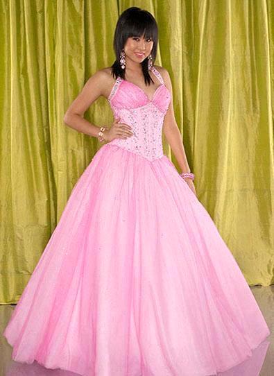 Halter A-Line Charming Ball Gown Prom Dresses 2009 Bg0003 (bg0003 ...