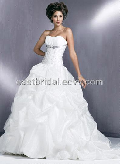 white ball gown beautiful wedding