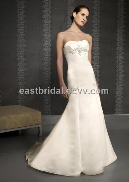 Mermaid Sweetheart Neckline Sleeveless Simple Wedding Dress DSWD0015