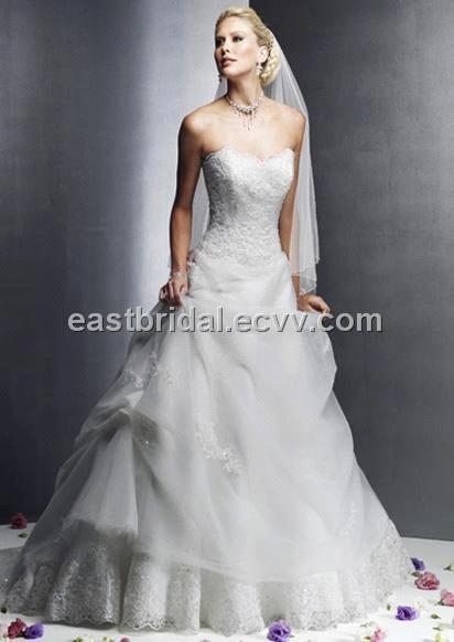 Satin Sweetheart Draped Waistline Chapel Train Traditional White Formal Wedding Dress Dfwd0022