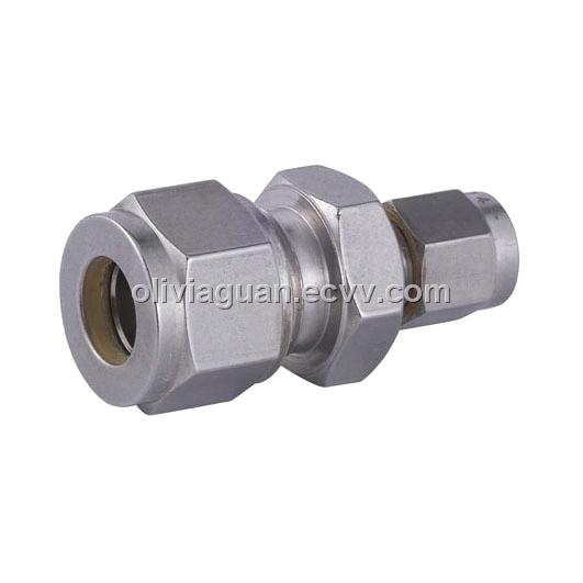 Compression tube fitting double ferrule fittings