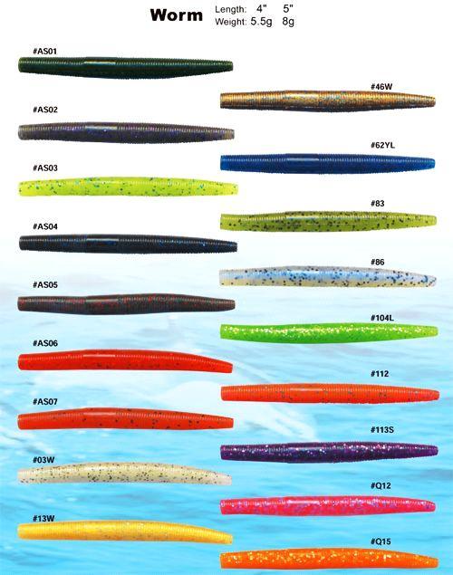 Hiqh Quality Soft Plastic Fishing Lures Worm Series