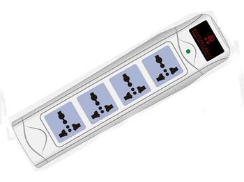 Power Strip with Emergency Light (LW410L-15)