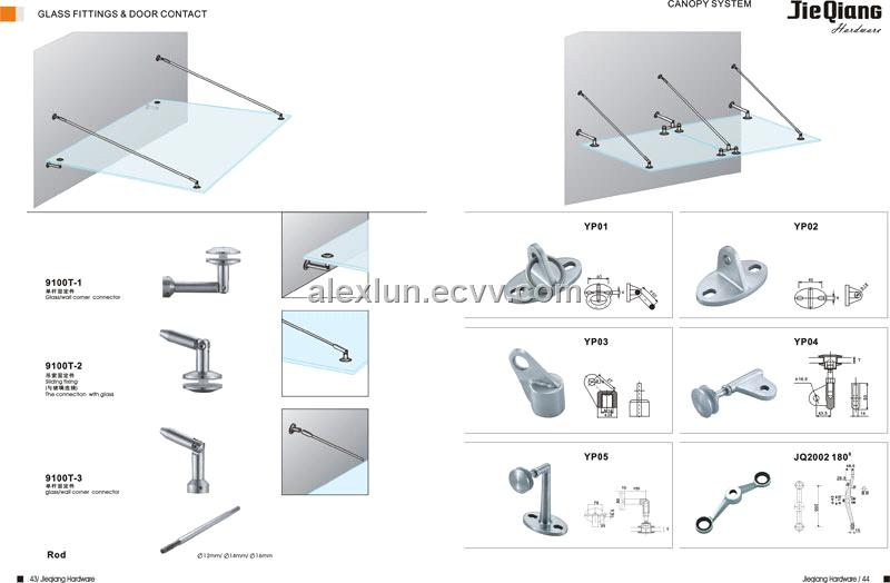 Glass Canopy Fitting 9100t Purchasing Souring Agent