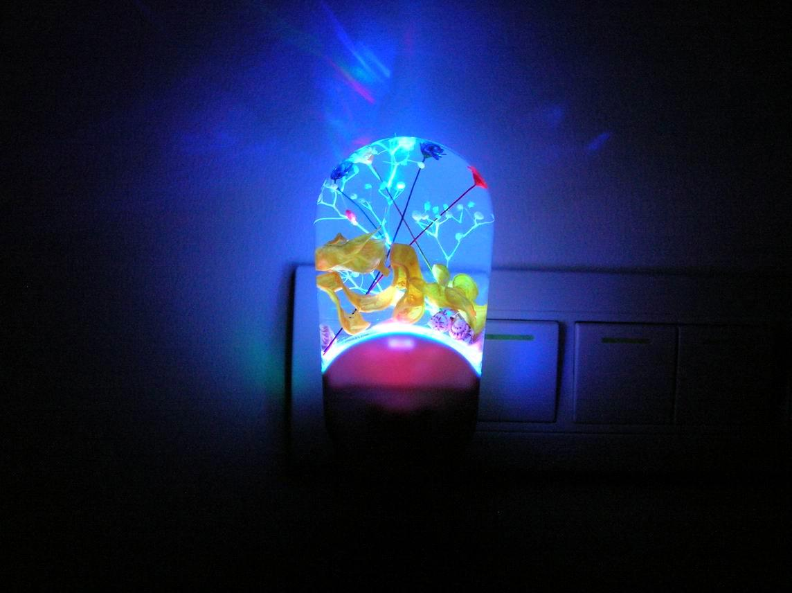 Led Night Lamp : Intelligent Blue Led Light Night Lamp Decorative Night Light Image ...