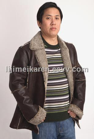 Men's Leather Jacket (HY-9933M) (HY-9933M) - China Leather apparel
