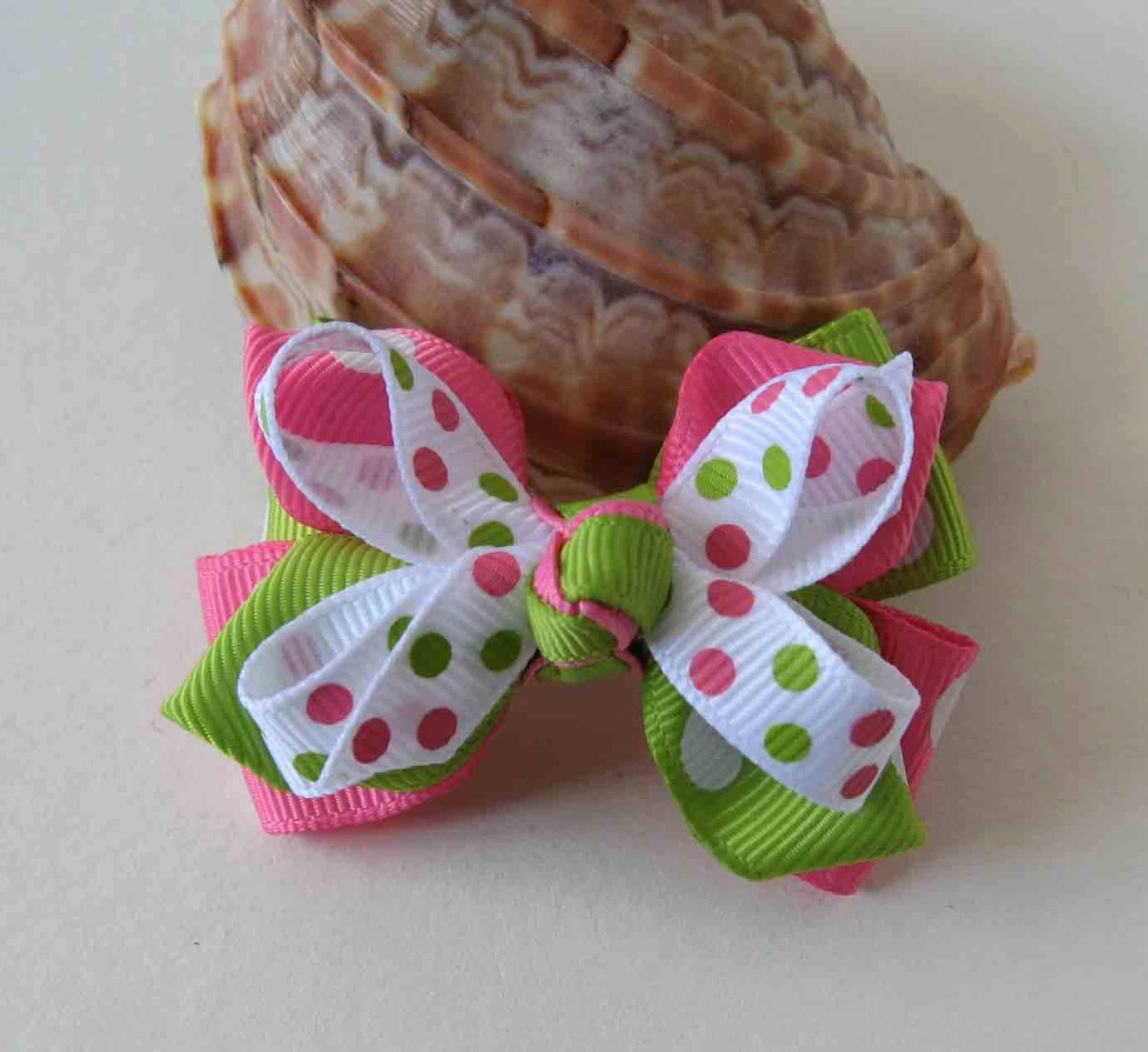 Image Gallery hair bow clips ribbon