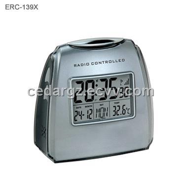 radio controlled alarm clock with digital calendar purchasing souring agent. Black Bedroom Furniture Sets. Home Design Ideas