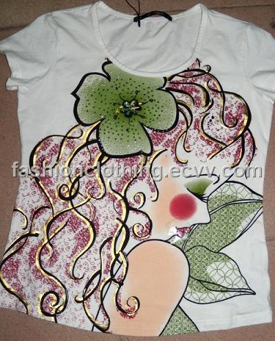 Women Fashion Clothes Factory China on Shirts   China Hand Painted T Shirts  Fashion T Shirts   2035508