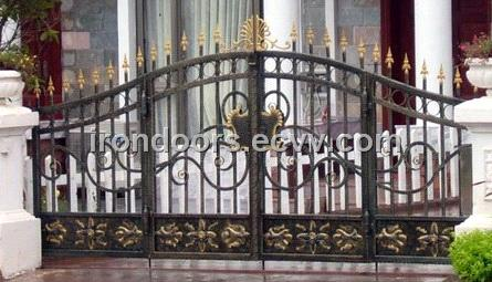 Wrought Iron Garden Interlocking Gate that works with our Fence