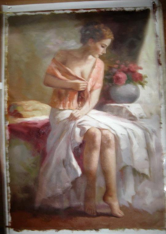 Life oil painting figure oil painting master work reproduction