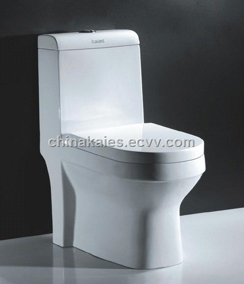 China Sanitary Ware Suppliers Wash Down One Piece Toilet