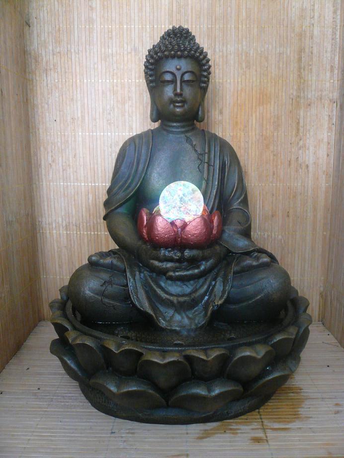 Buddha Water Fountain Home Decor
