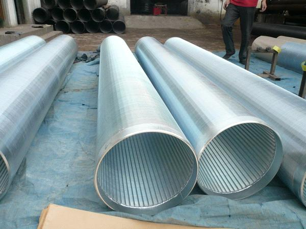 Water Well Screens : Strainers pipe or continous slot v wire water well screen