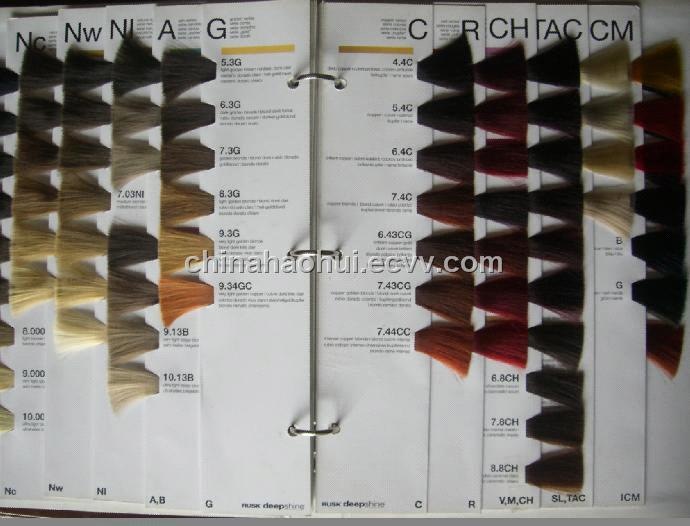 Color guide book china hair color