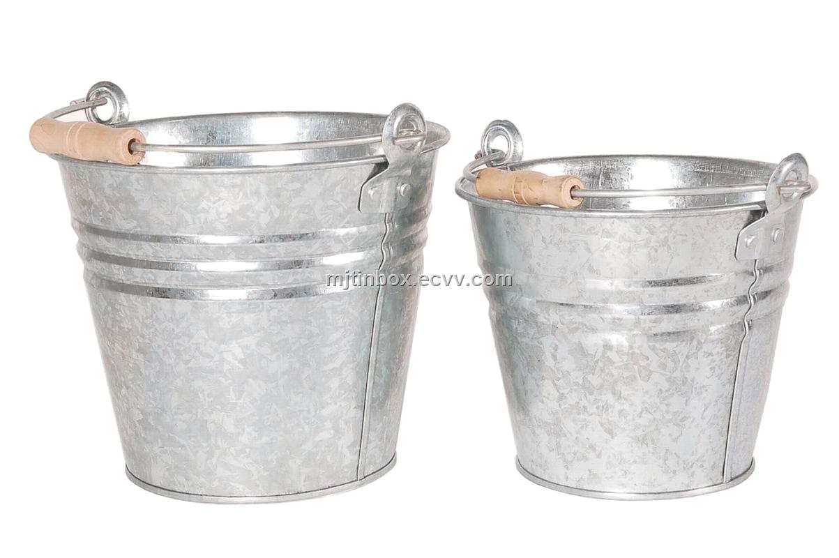 galvanized bucket tin pail metal bucket 5L 8L  China metal bucket