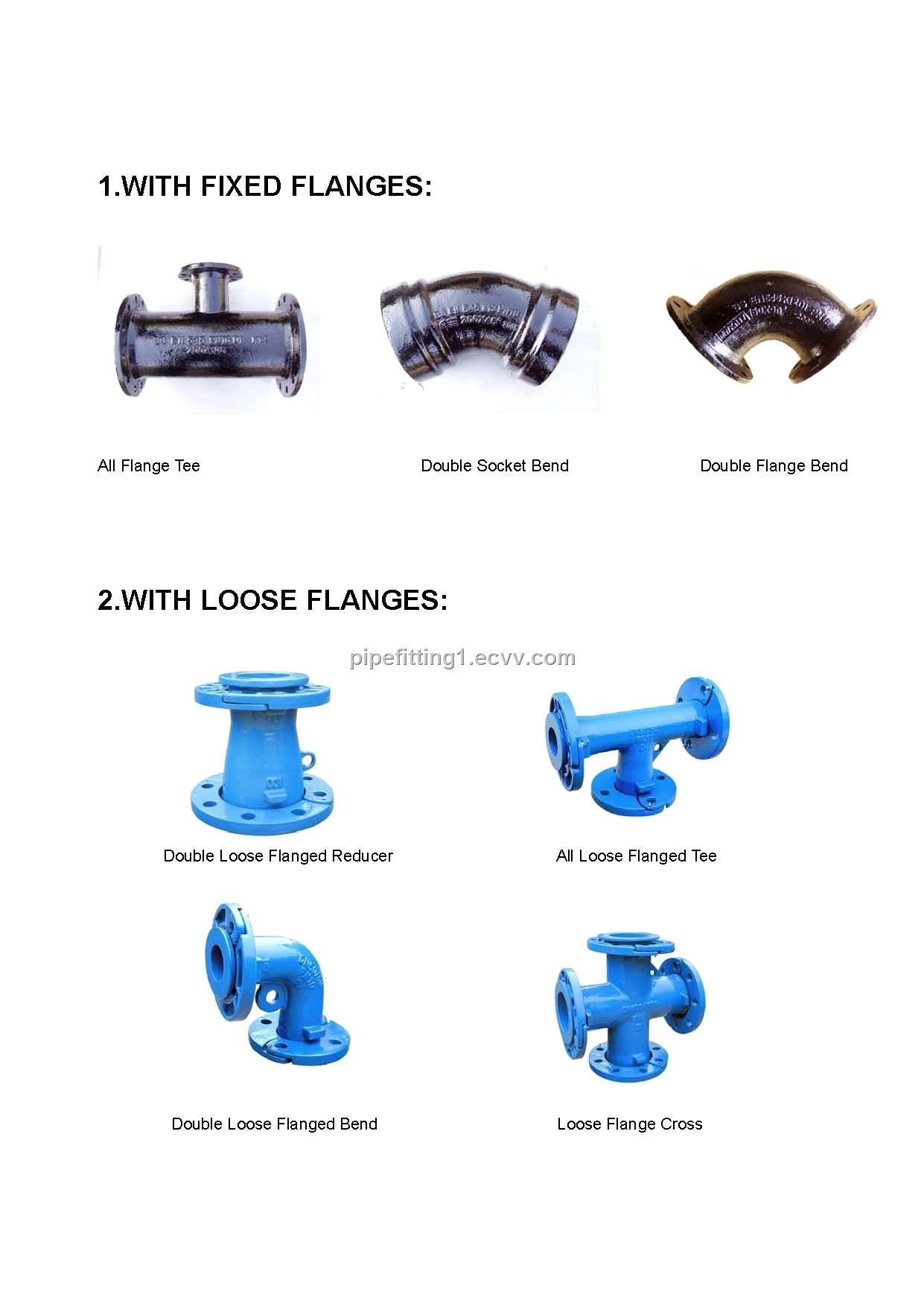 Ductile iron pipe fitting to bs iso en
