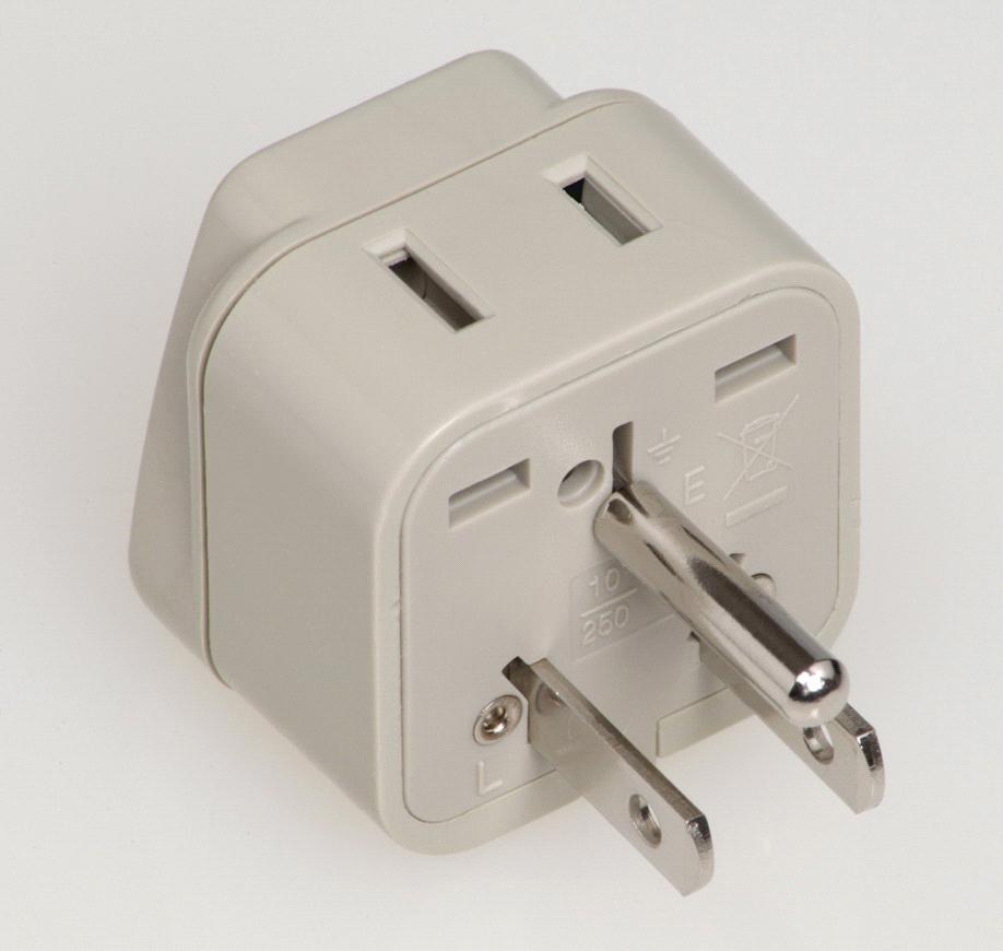 US Grounded Plug Adapter (WAD-5) - China U