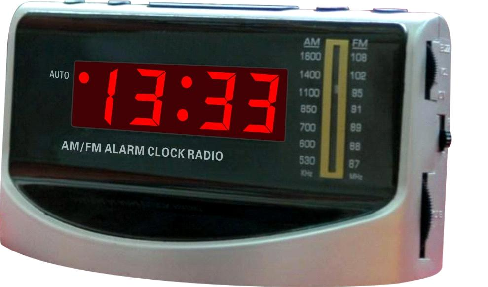 electronic alarm am fm clock radio. Black Bedroom Furniture Sets. Home Design Ideas