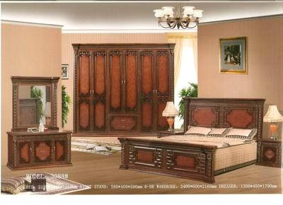 classical style bedroom furniture bed night table dresser wardrobe 3088 bedroom furniture china